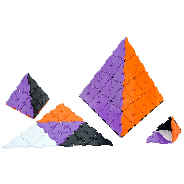Polydron 100 Equilateral Triangles - New Colours
