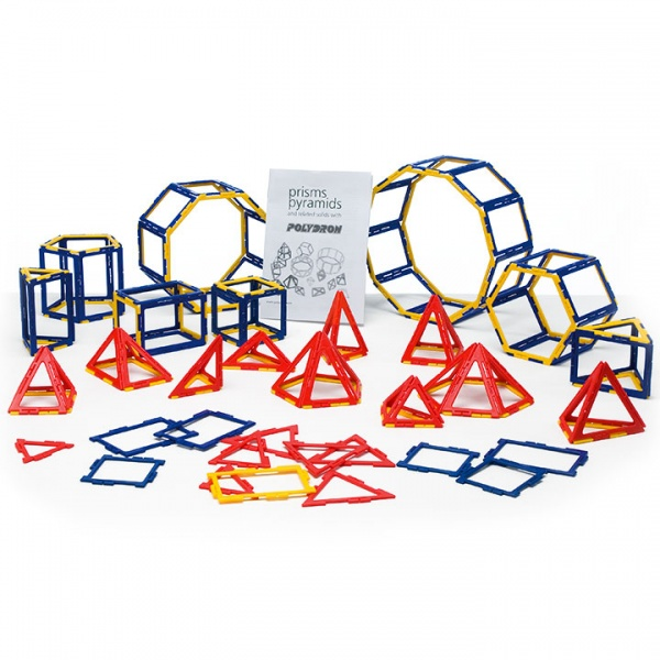 Polydron Frameworks Prism and Pyramid Set