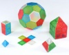 Translucent Solid Magnetic Polydron Essential Shapes Set