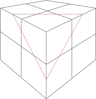 Section of Cubes