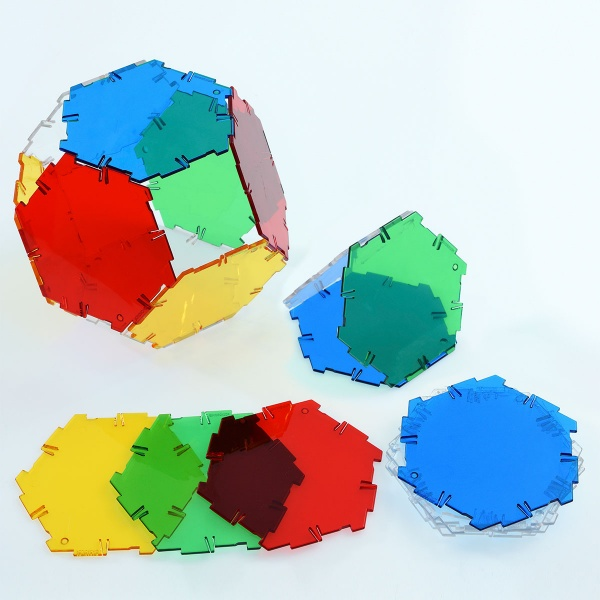 Crystal Polydron Hexagon Set
