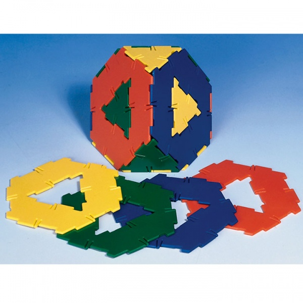 Polydron 20 Hexagons with Cut-Out