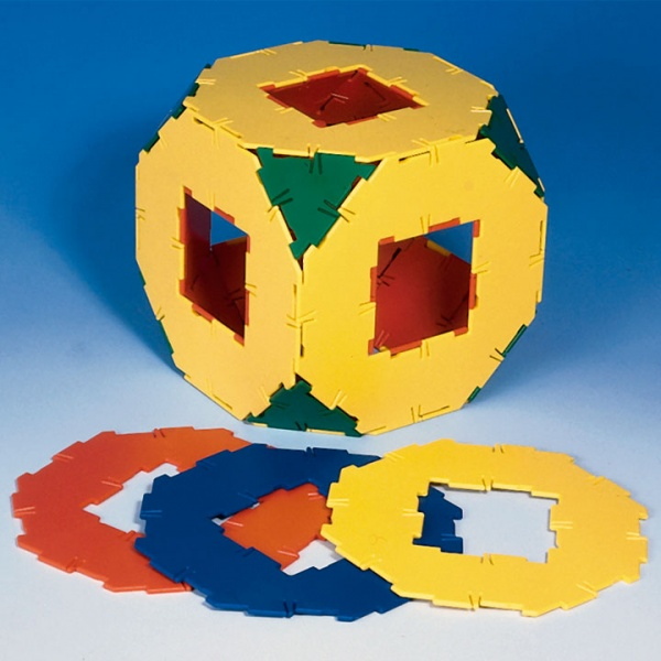 Polydron 10 Octagons with Cut-Out