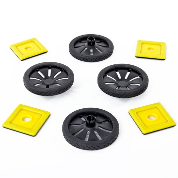 Magnetic Polydron Add-on Wheels