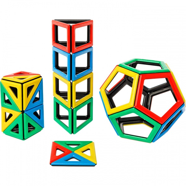 Magnetic Polydron Extra Shapes Set