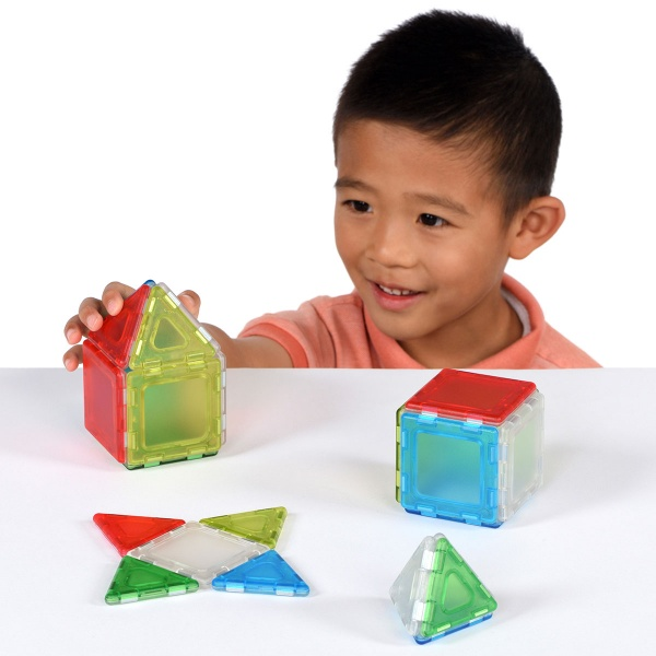 Translucent Solid Magnetic Polydron Starter Set