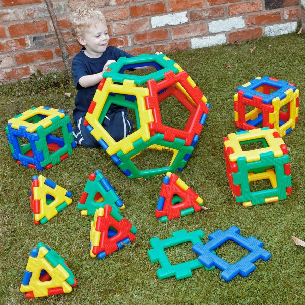 Giant Polydron Platonic Solids Set