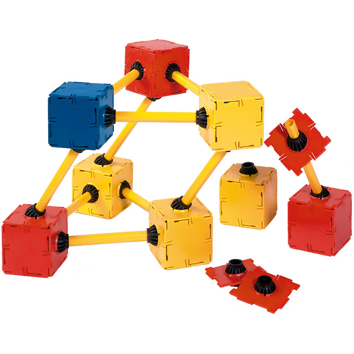 Polydron 20 Squares with Gimbals and 10 Struts