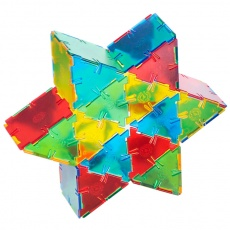 Translucent Polydron 100 Equilateral Triangles