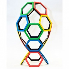 Magnetic Polydron Hexagon Set